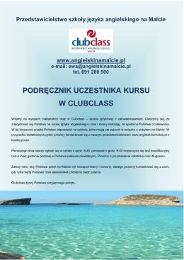 Informator dla uczestnika kursu w Clubclass