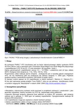 PA0KLT Si570 VFO Synthesizer Kit dla DRUGIEJ SERII