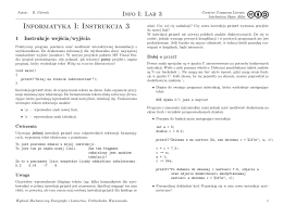 Informatyka I: Instrukcja 3 - C-CFD