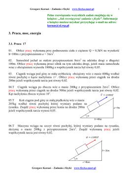 const v =  const a = 3. Praca, moc, energia