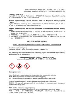 SELECT SUPER 120 EC.pdf - Arysta LifeScience Polska