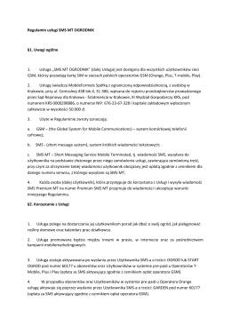 Regulamin usługi SMS MT OGRODNIK §1 - super