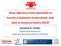 Jarosław B. Ćwikła: Nowe algorytmy oceny