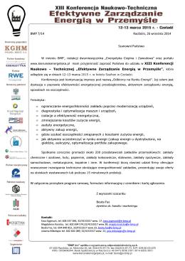 BMP 7/14 Racibórz, 26 września 2014 Szanowni Państwo - E-BMP