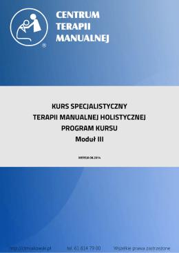 III moduł specjalistyczny - Centrum Terapii Manualnej