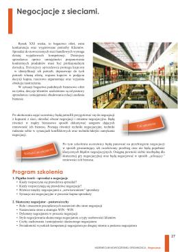 Program szkolenia (.pdf) - Centrum Edukacji i Biznesu