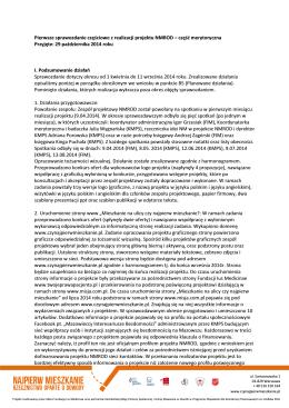 Pierwsze sprawozdanie częściowe z projektu NMROD