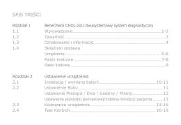 Benecheck 2w1 CHOL.GLU instrukcja obsługi PL