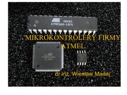 """""""Atmel"""" z przedmiotu Mikroprocesory i systemy wbudowane pliki"""