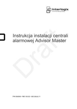 Instrukcja instalacji centrali alarmowej Advisor Master
