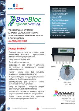 Karta katalogowa Sterowniki BonBloc BONNEL