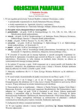 ogłoszeniaparafialne - Parafia pw. św. Jana Chrzciciela w Kutnie