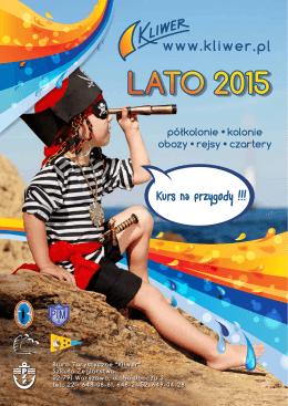 Obozy, kolonie, katalog Lato 2015 Kliwer