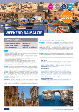 10. Weekend na Malcie 5 dni