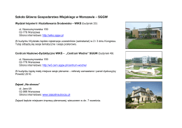 Szkoła Główna Gospodarstwa Wiejskiego w Warszawie – SGGW