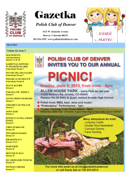 Gazetka - Polish Club of Denver