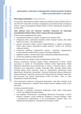 Sprawozdanie - Portal o przeciwdziałaniu handlowi ludźmi