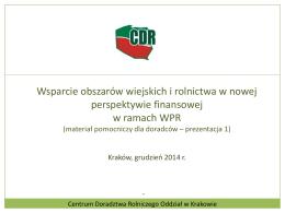 Wsparcie obszarów wiejskich i rolnictwa w nowej