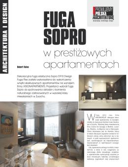Fuga SOPRO w prestiżowych apartamentach (Builder 09/2013)