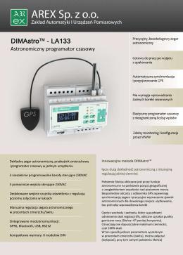 DIMAstro-LA133 Astronimiczny zegar czasowy