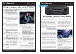 Kompletne centrum audio-wideo Główne