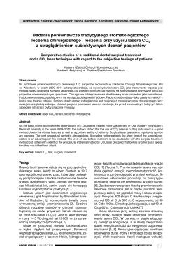 Badania porównawcze tradycyjnego stomatologicznego leczenia