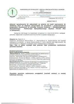 ZASTĘPCA DYREfaORA - Szpital Specjalistyczny Chorób Płuc w