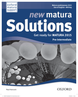 selLanguage=en;Get ready for MATURA 2015