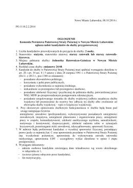 Nowe Miasto Lubawskie, 08.10.2014 r. PO.1110.2.2.2014