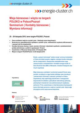 Misja biznesowa i wizyta na targach POLEKO w Polsce/Poznań