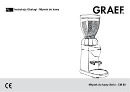 587-GRAEF Młynek do kawy CM800 - Instrukcja