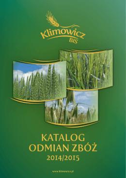 Katalog odmian zbóż Na rok 2014/2015