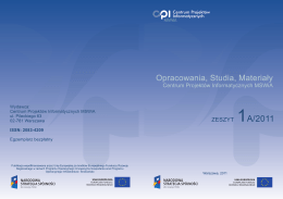 Zeszyt 1A - Centrum Projektów Informatycznych