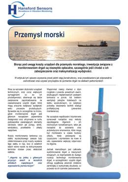 Przemysł morski - Hansford Sensors