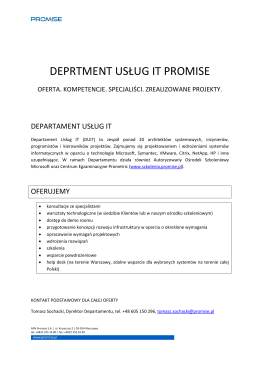 Promise Departament Usług IT. Edycja 2013 (pdf)