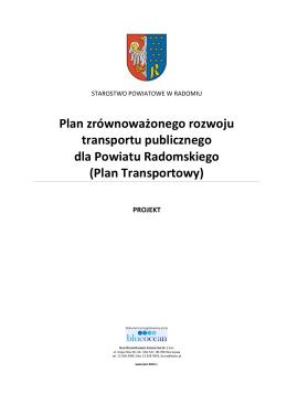 Plan Transportowy - Starostwo Powiatowe w Radomiu