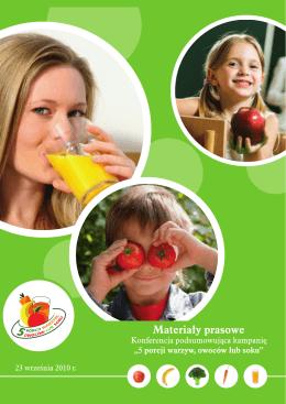 """Booklet """"5 porcji warzyw, owoców lub soku"""""""