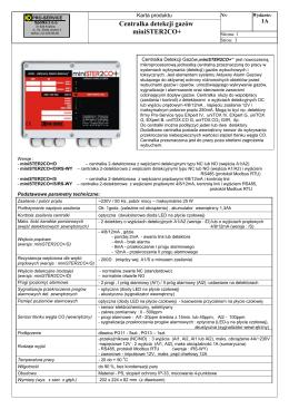 Karta produktu - miniSTER2CO_plus
