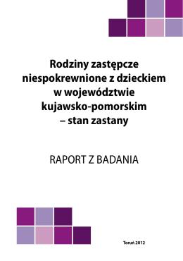Rodziny zastępcze niespokrewnione z dzieckiem w województwie