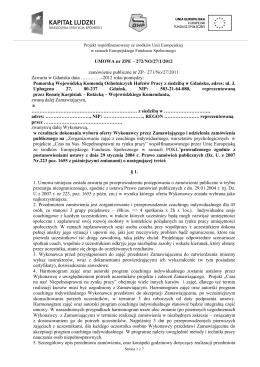 Wzór umowy 1