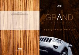 Jeep Grand Cherokee 2011 MY - Specyfikacja PL