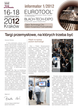 Biuletyn EUROTOOL®/BLACH-TECH-EXPO 01