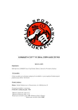 GOKKEN CUP 7 VI 2014, CHWASZCZYNO