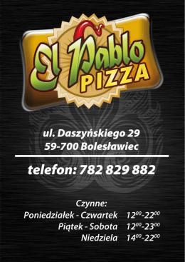 Pizza - Restauracja El Pablo