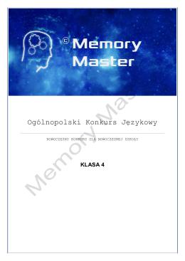klasa 4 - Memory Master