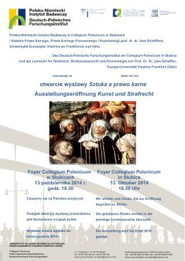 otwarcie wystawy Sztuka a prawo karne Ausstellungseröffnung