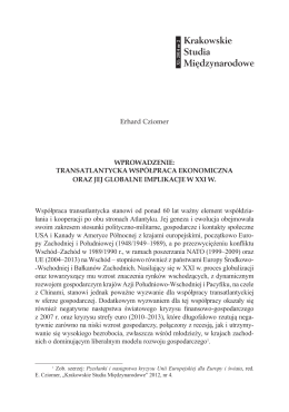 Przeczytaj - Krakowskie Studia Międzynarodowe