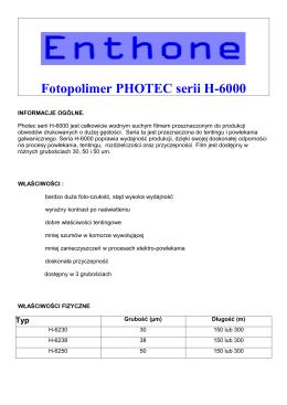 Fotopolimer H6000 - PCB Technology Elbląg
