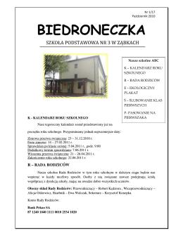 """""""BIEDRONECZKA"""" Nr 1 Październik 2010"""