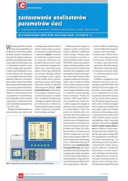 Zastosowanie analizatorów parametrów sieci w